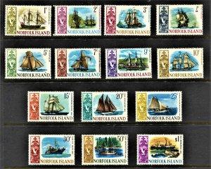 STAMP STATION PERTH Norfolk Island #100-113 Ships Definitive Set MNH- CV$16.00