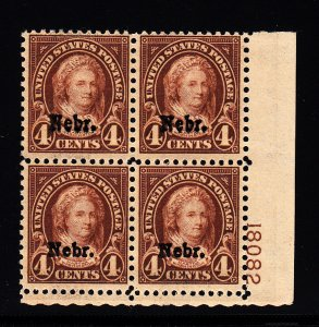 #673 Plate block F-VF NH!