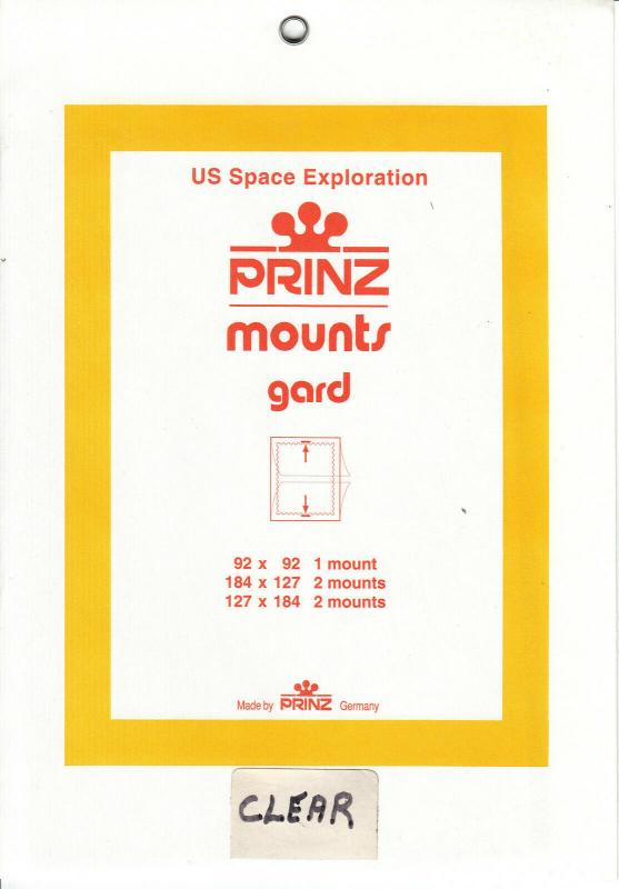 PRINZ CLEAR MOUNTS US SPACE EXPLORATION (5) RETAIL PRICE $6.50