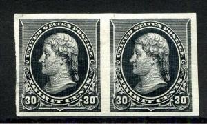 US Stamps # 228PA 30c Jefferson Pair Superb OG LH