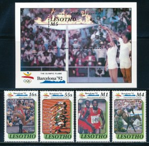 Lesotho - Barcelona Olympic Games MNH Sports Set (1992)