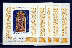 HUNGARY 1977 Religion Mini Sheets x 5 MNH (NT 8597s