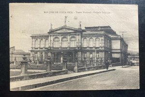 1930s San Jose Costa Rica RPPc Postcard Cover To Chicago iL USA National Theater