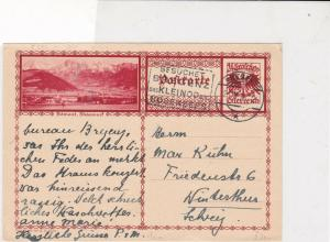 austria 1931 countryside with mountains scene stamps card ref 20937