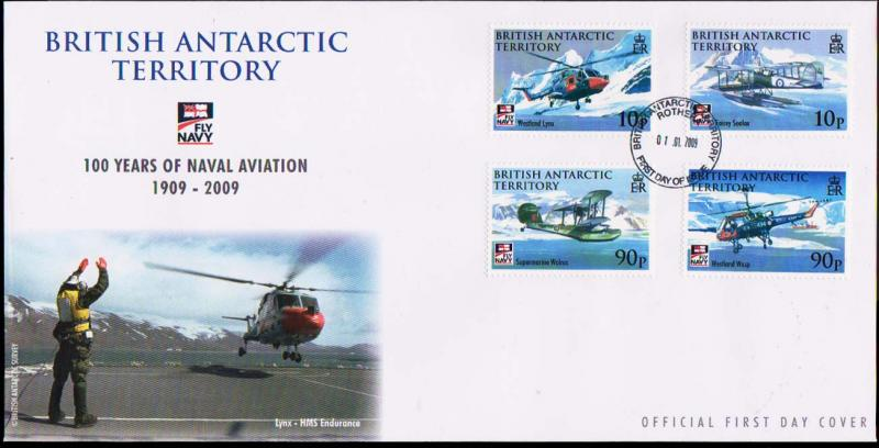 British Antarctic Territory Scott 405-408 Unaddressed.