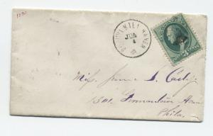 1870s Schuylkill Haven PA #136 3 cent banknote grill cover [y3327]