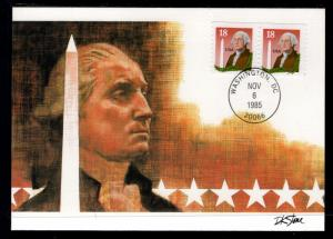 US 2159 Washington Monument Fleetwood Maxi Card U/A FDC