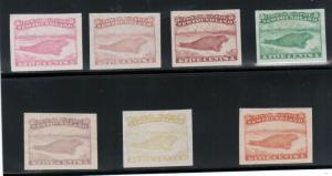Newfoundland #25DP Extra Fine ABN Trade Sample Proofs In 7 Different Colors