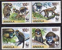 Angola MNH 1364a-d Monkey's 2011