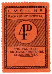 (I.B) Dundee & Arbroath Joint Railway : Newspaper Parcel 4d (LMS-LNER)