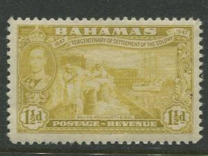 Bahamas - Scott 134 - KGVI Definitive Issue-1948- MVLH -Single 1.1/2d Stamp