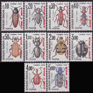 ST.PIERRE 1986 - Scott# J83-92 Insects Set of 10 NH