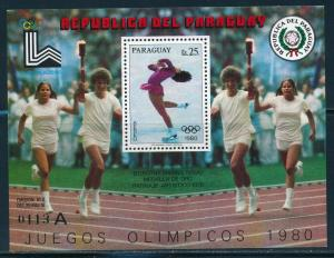 Paraguay- Lake Placid Olympic Games MNH Dorothy Hamill USA Sheet A (1980)