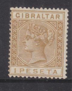 GIBRALTAR, 1889 1p. Bistre, mnh.