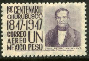 MEXICO C183, $1P 1847 Battles Centennial Mint, NH. F-VF.