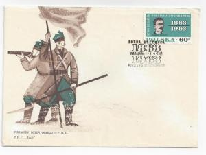 Poland 1963 FDC Traugutt Insurrection Sc# 1111 First Day Co