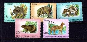 Trinidad and Tobago 196-200 MNH 1971 Animals