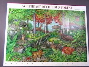 U.S.# 3899-MINT/NEVER HINGED--PANE OF 10-NORTHEAST DECIDUOUS FOREST -2005
