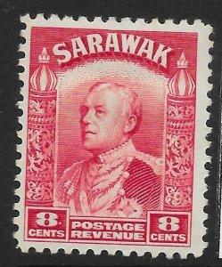 SARAWAK SG112a 1941 8c CARMINE MTD MINT.