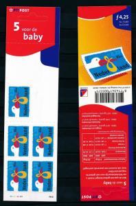 [17388] Netherlands Niederlande 2001 Birth FL/€ Booklet Pane MNH NVPH PB64