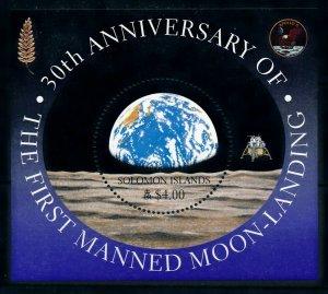 [102271] Solomon Islands 1999 Space travel Apollo 11 Souvenir Sheet MNH