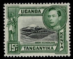 KENYA UGANDA TANGANYIKA GVI SG138, 15c black & green, M MINT.