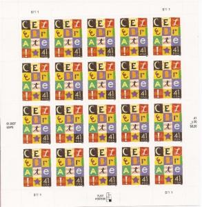 US Stamp - 2007 Celebrate - 20 Stamp Sheet - Scott #4196