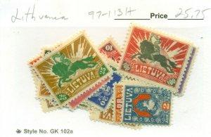 LITHUANIA #97-113, Mint Hinged, Scott $25.75