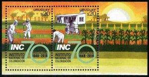 HERRICKSTAMP NEW ISSUES URUGUAY Sc.# 2643 Institute of Colonization S/S