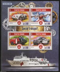 SIERRA LEONE 2015 SPECIAL TRANSPORT SHEET  MINT NH