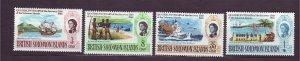 J23741 JLstamps 1968 solomos islands set mh #176-9 queen views