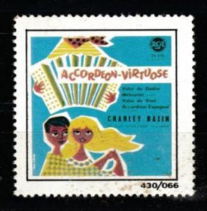 Accordeon Virtuose Charlet BAZIN music vignette MNH **