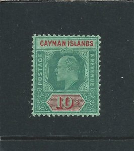 Cayman Is 1907-09 10s Green & Red/Green MM SG 34 Cat £180