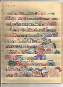 EGYPT COLLECTION ON STOCK SHEET