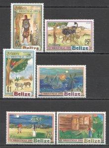 R0828 BELIZE ART CULTURE FOLKLORE CHRISTMAS 1991 #1078-83 MICHEL 17 EURO SET MNH