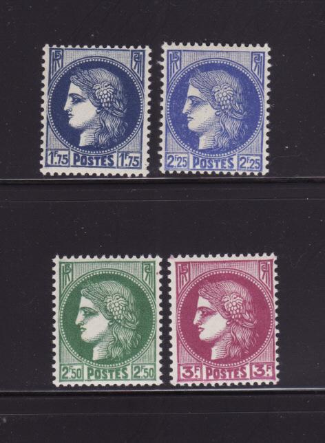 France 335, 337-338, 240 MNH Ceres (A)