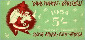 South Africa 1954 5/- Xmas Stamps Booklet Mint (loose) Stamps