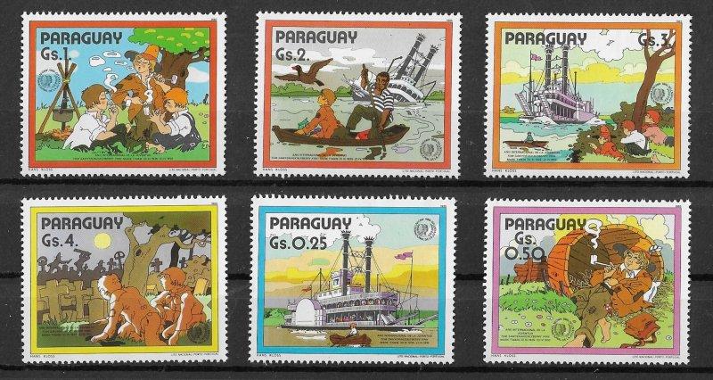 Paraguay MNH Set Of 6 Mark Twain & Tom Sawyer Adventures