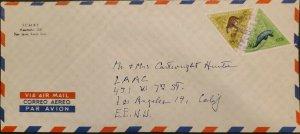 L) 1963 COSTA RICA, TRIANGLE, ANIMALS, NATURE, FAUNA, ANATI, 5 CENTS, 40 CENTS,