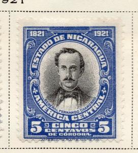 Nicaragua 1921 Early Issue Fine Mint Hinged 5c. 323646