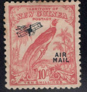 New Guinea Scott C42 MH* 10 shilling Airmail CV$100 small margin tear at top