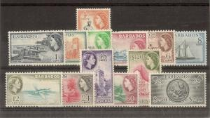 Barbados 1953 Definitive Set SG289-301 Mint Cat£75