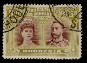 RHODESIA SG141, 5d purple-brown and olive-green, FINE USED. Cat £75.