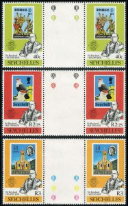 Seychelles Scott 434-436 Mint never hinged.