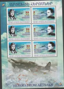 O) 2013 ARMENIA - REPUBLIC OF MAUNTAINOUS, AIR WAR, HEROES F