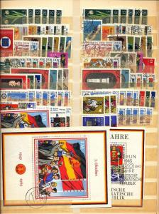 EAST GERMANY Sheets Flowers Art Costumes MNH Used Collection(Appx 750)AU15582