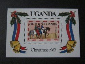 Uganda 1983 Sc 399 Christmas Religion set MNH