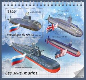 NIGER - 2019 - Submarines - Perf Souv Sheet - MNH