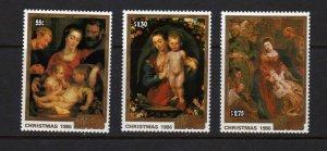 Cook Islands #919-921 MNH Religious Christmas Art 1986 NH Rubens Paintings