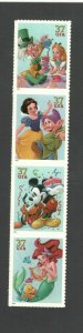 3912-15a Disney Celebration Strip Of 4 Mint/nh FREE SHIPPING